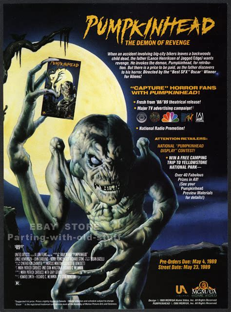 The Horrors of Halloween: PUMPKINHEAD (1988) Newspaper Ad ...