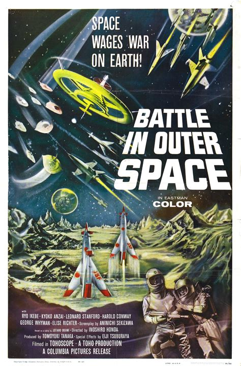 Poster for Battle in Outer Space (Uchu daisenso, aka The ...