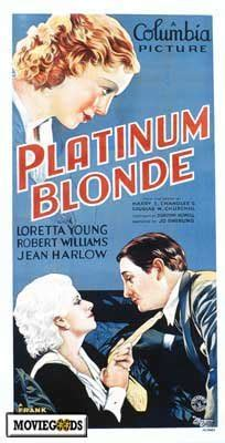 Platinum Blonde Movie Posters From Movie Poster Shop