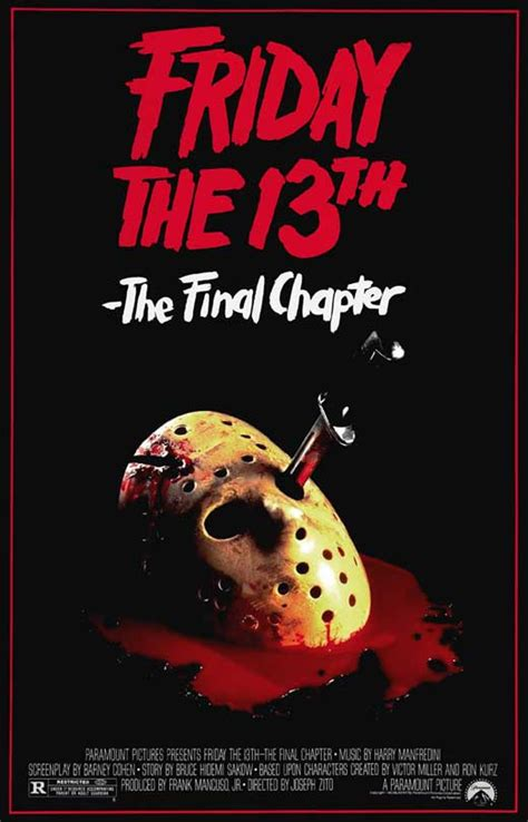 Friday the 13th, Part 4: The Final Chapter Movie Posters ...