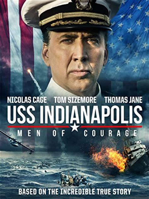 USS Indianapolis Men of Courage dvd cover & label (2016 ...