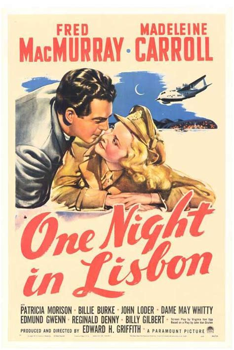 One Night in Lisbon Movie Posters From Movie Poster Shop