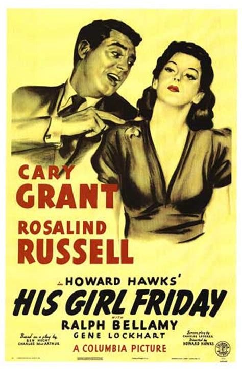 His Girl Friday movie posters at movie poster warehouse ...
