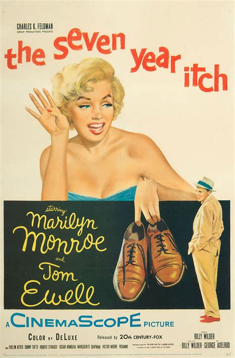 The Seven Year Itch 1955 Original Movie Poster Marilyn ...