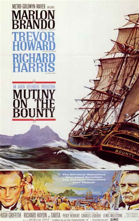 Mutiny on the Bounty Movie Posters From Movie Poster Shop