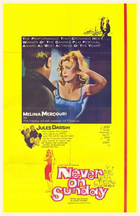Never on Sunday Movie Posters From Movie Poster Shop
