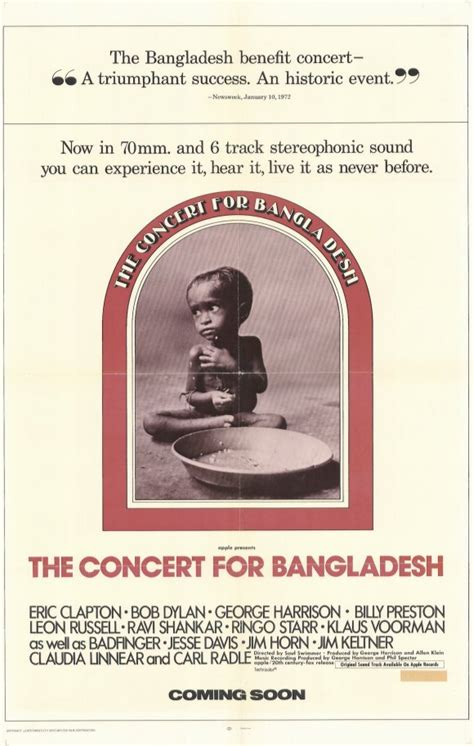 The Concert for Bangladesh Movie Posters From Movie Poster ...