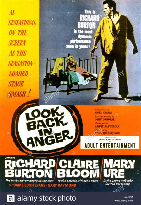 LOOK BACK IN ANGER Poster for 1959 ABP film with Richard ...