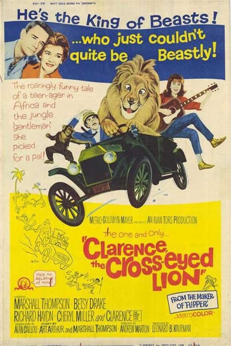 Clarence, the Cross-eyed Lion Movie Posters From Movie ...