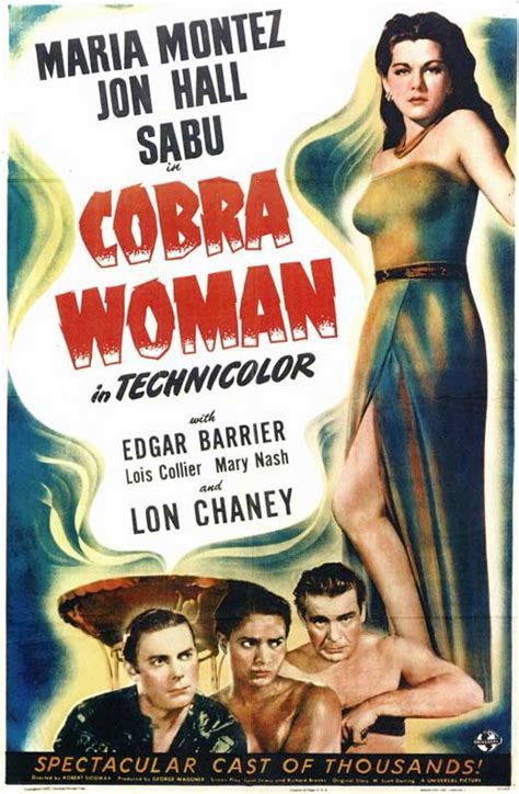 Cobra Woman Movie Posters From Movie Poster Shop