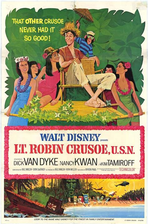 Lt. Robin Crusoe, U.S.N. Movie Posters From Movie Poster Shop