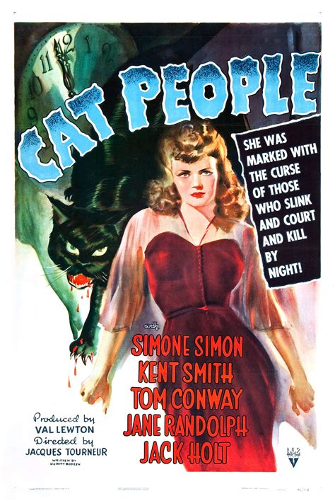 Poster for Cat People (1942, USA) - Wrong Side of the Art