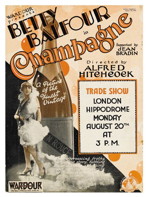 Champagne (1928) Betty Balfour Alfred Hitchcock movie ...