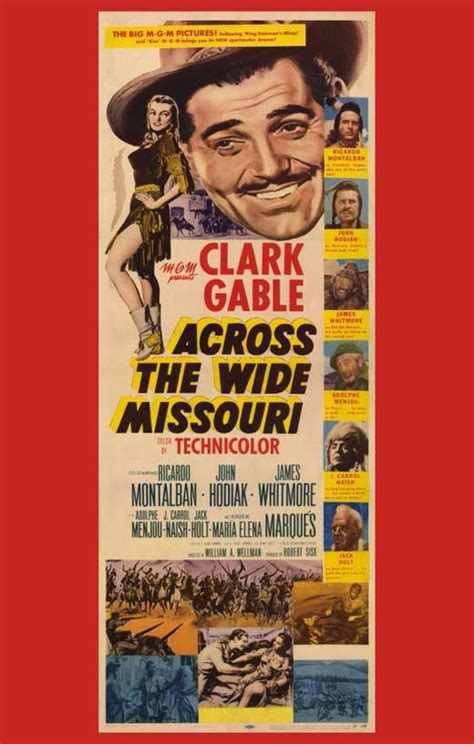 Across the Wide Missouri Movie Posters From Movie Poster Shop