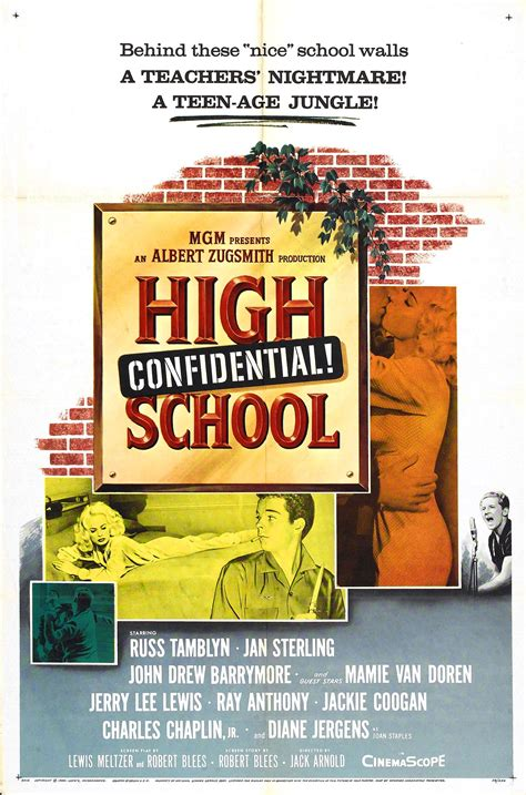 Poster for High School Confidential! (1958, USA) - Wrong ...