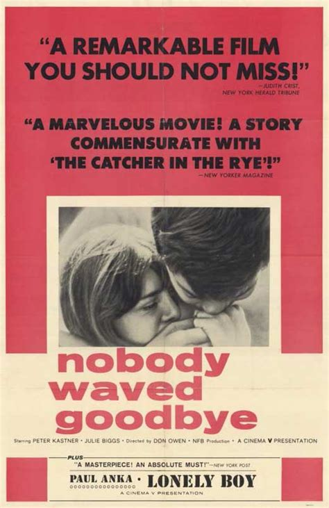 Nobody Waved Goodbye Movie Posters From Movie Poster Shop