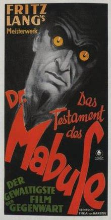 The Testament of Dr. Mabuse - Wikipedia