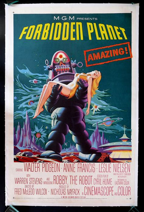 FORBIDDEN PLANET * CineMasterpieces * 1SH ORIGINAL MOVIE ...