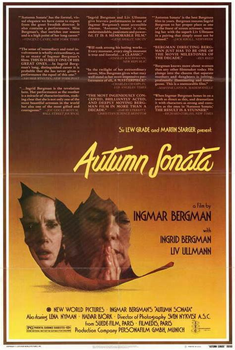 Autumn Sonata Movie Posters From Movie Poster Shop