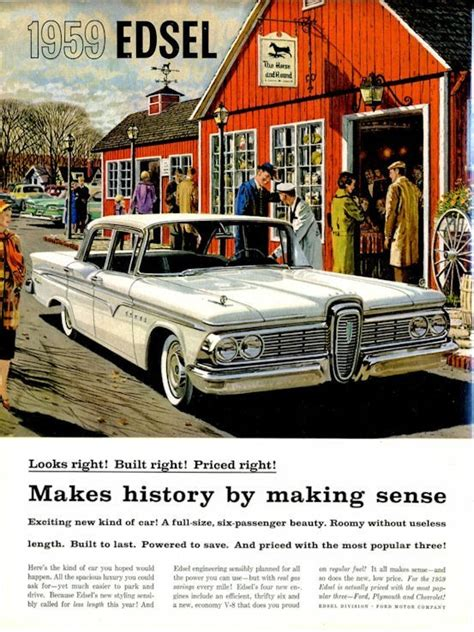 "1958 Edsel White Hardtop at ""The Horse and Hound"" Country ..."
