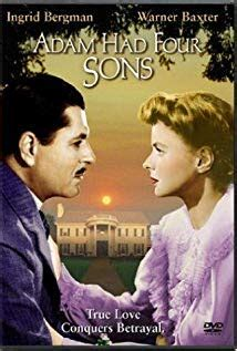Adam Had Four Sons (1941) - IMDb