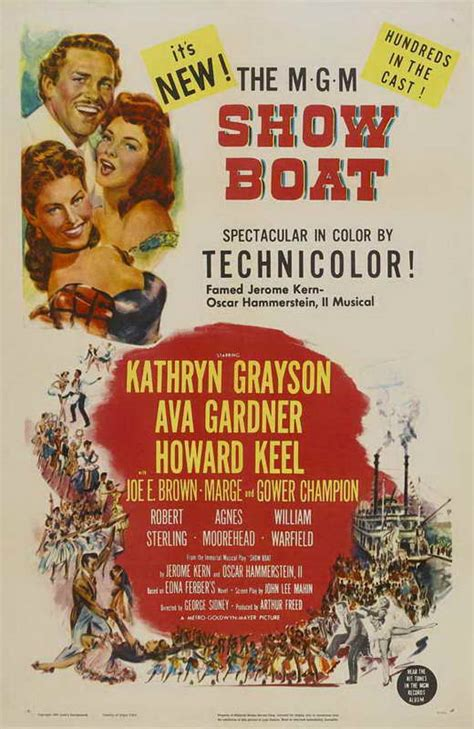 Show Boat Movie Posters From Movie Poster Shop