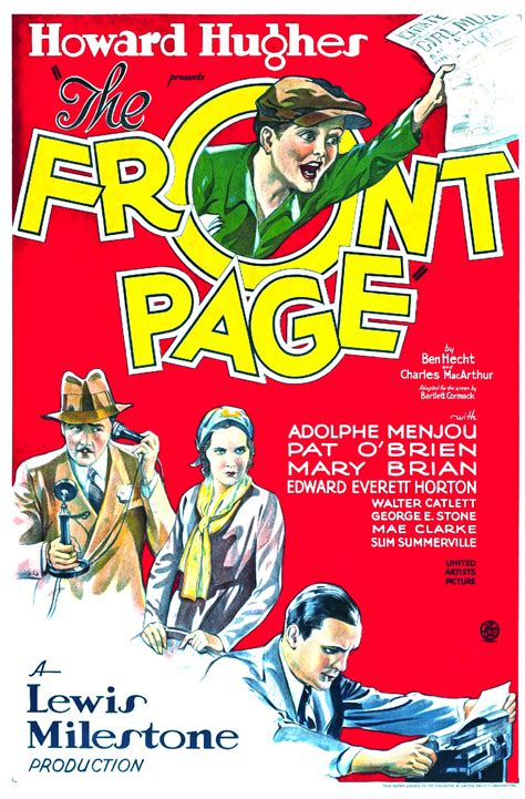 File:The Front Page (1931 film) poster.jpg - Wikimedia Commons