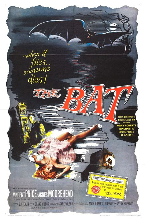Poster for The Bat (1959, USA) - Wrong Side of the Art