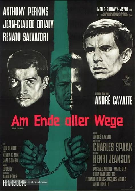 Le glaive et la balance German movie poster