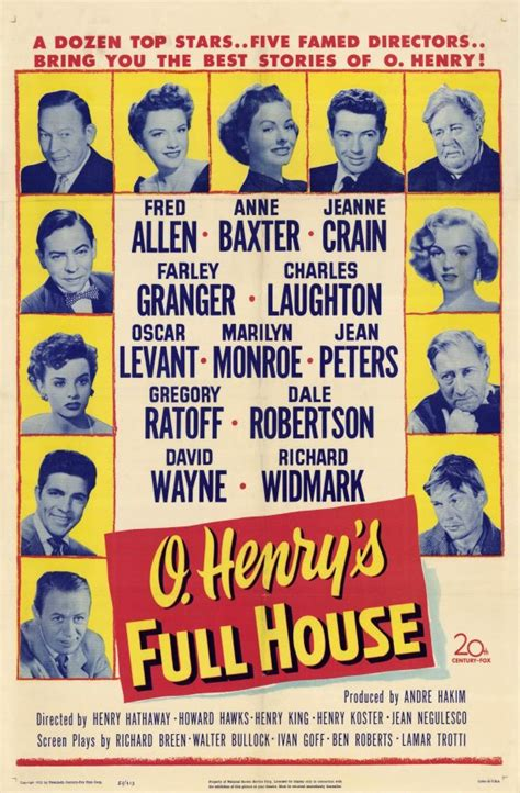 O'Henry's Full House Movie Posters From Movie Poster Shop