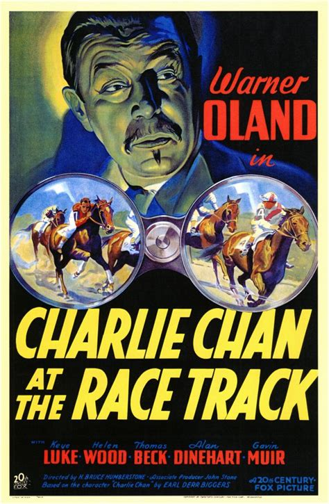 Charlie Chan at the Race Track Movie Posters From Movie ...