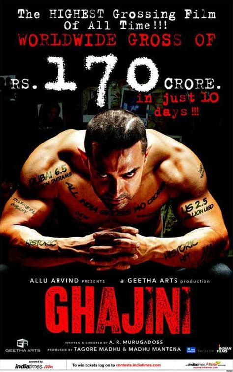 Ghajini Movie Posters From Movie Poster Shop