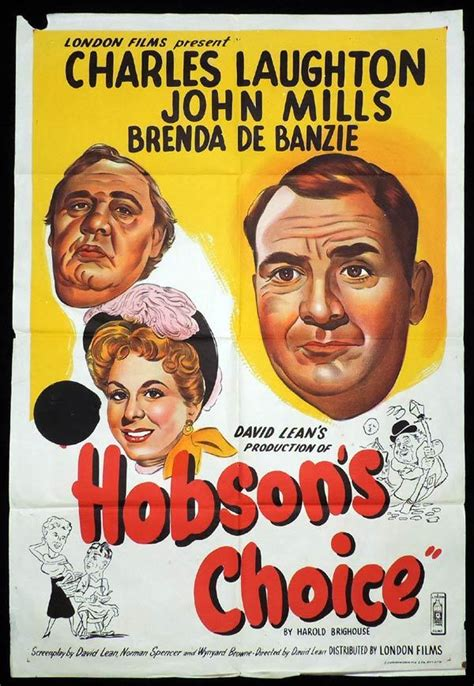 HOBSON'S CHOICE One Sheet Movie Poster John Mills David ...