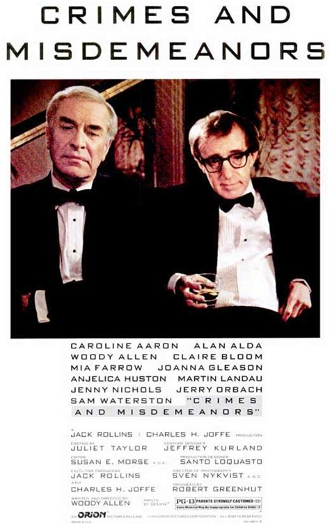 Crimes & Misdemeanors Movie Posters From Movie Poster Shop