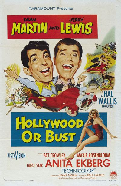 Hollywood or bust Jerry Lewis Dean Martin movie poster ...
