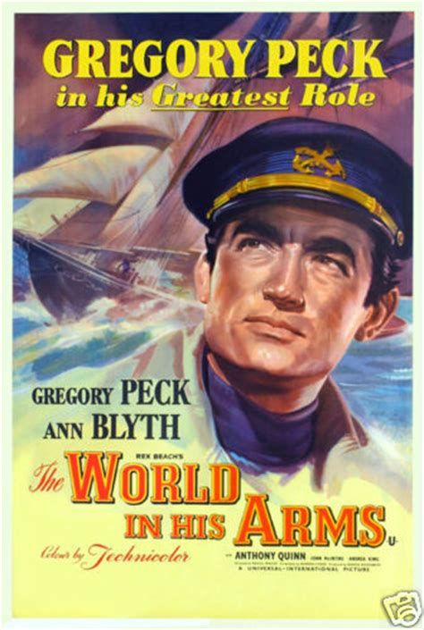 The world in his arms Gregory Peck vintage movie poster | eBay