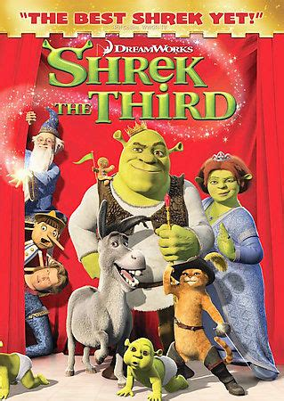 Shrek the Third (DVD, 2007) Full Screen, The best Shrek ...