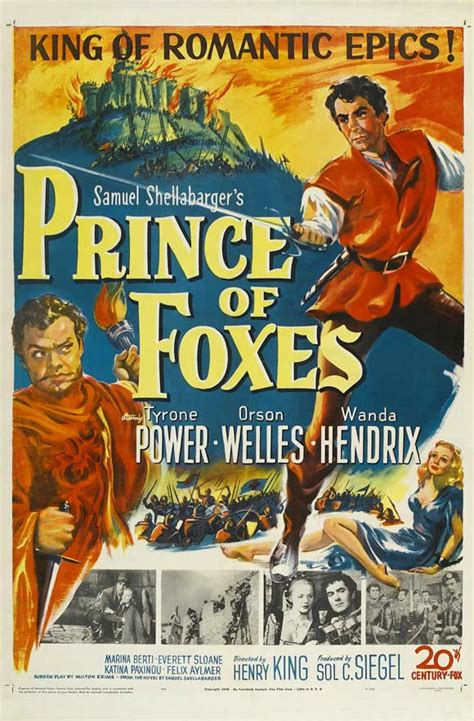 Prince of Foxes Movie Posters From Movie Poster Shop