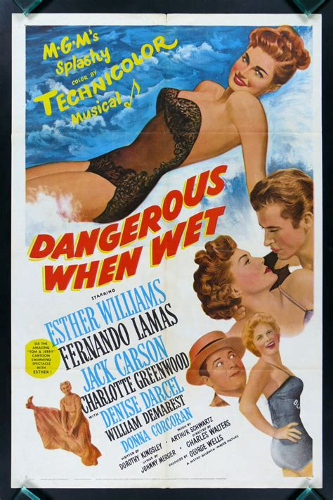 DANGEROUS WHEN WET * CineMasterpieces SWIMSUIT SWIM ...