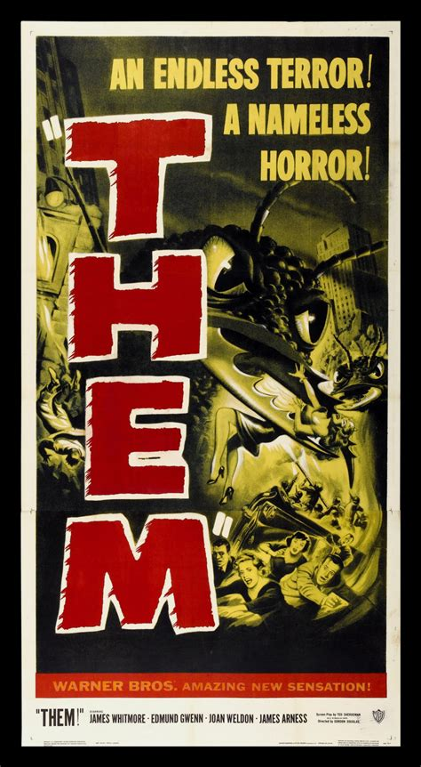 THEM ! * CineMasterpieces 3SH ORIGINAL MOVIE POSTER 1954 ...