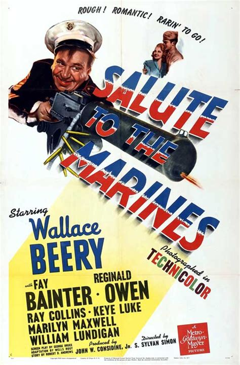 Salute to the Marines Movie Posters From Movie Poster Shop