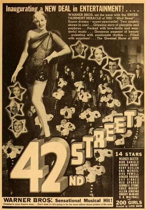 Rare Film & TV on DVD: 42nd Street (1933) The Broadway ...