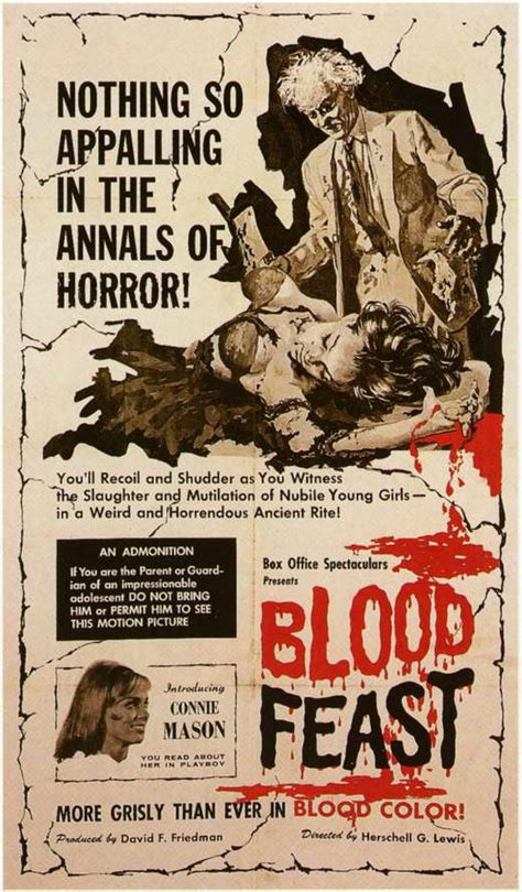 Blood Feast Movie Posters From Movie Poster Shop