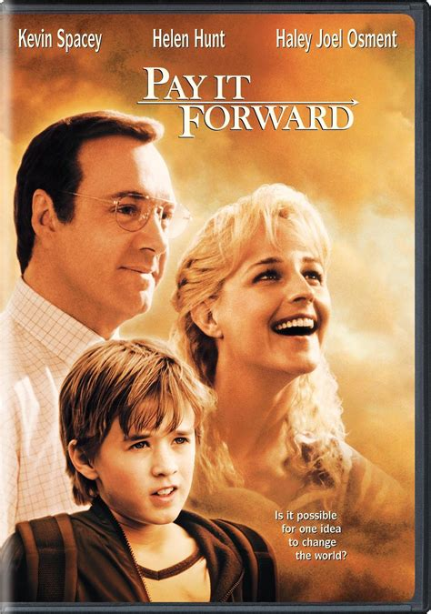 Pay It Forward DVD Release Date