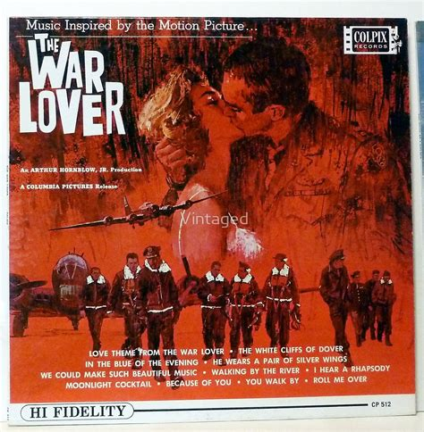 """The War Lover, 1962 album lp cover, Steve McQueen"" by ..."