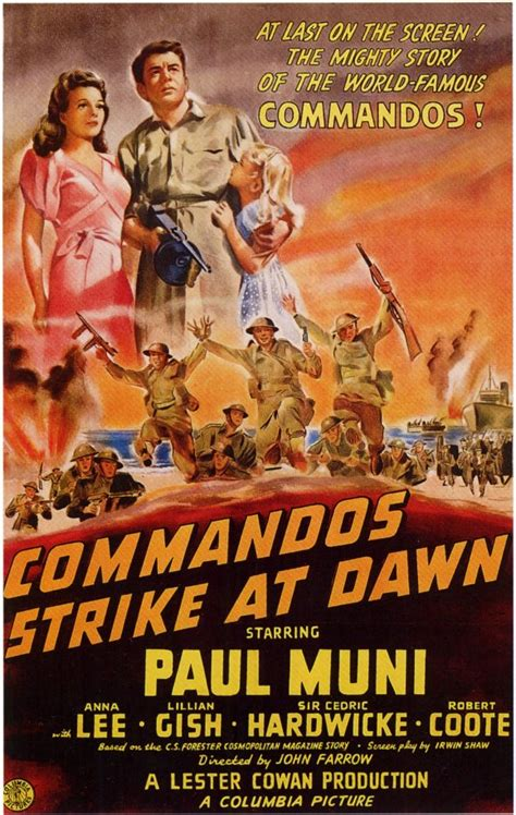Commandos Strike at Dawn Movie Posters From Movie Poster Shop