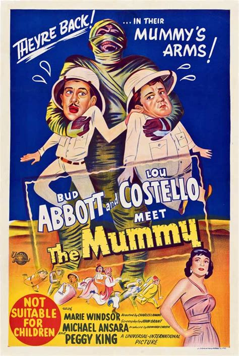 Abbott and Costello Meet the Mummy Movie Posters From ...