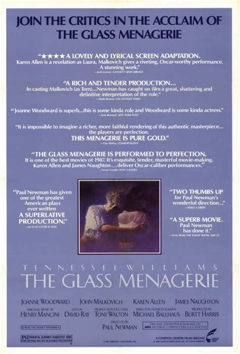 The Glass Menagerie Movie Posters From Movie Poster Shop