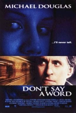 Don't Say a Word - Wikipedia