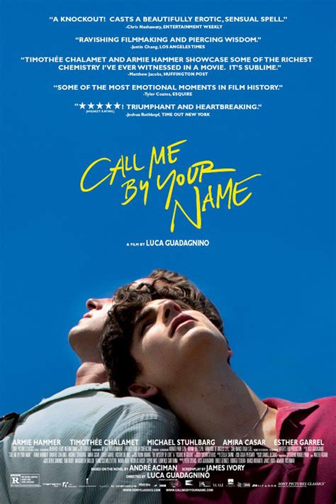 Call Me by Your Name DVD Release Date March 13, 2018